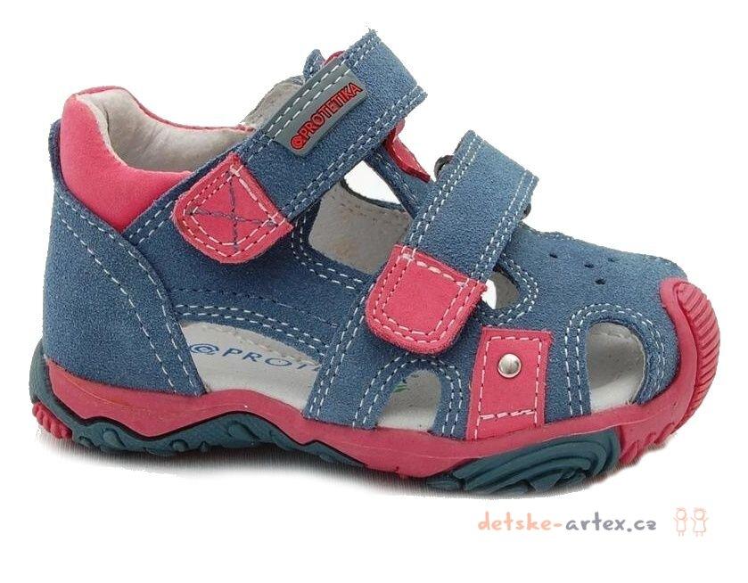 37f928b4408c dětská letní obuv Protetika Rasty blue velikost 19 až 26. dívčí sandálky  Protetika