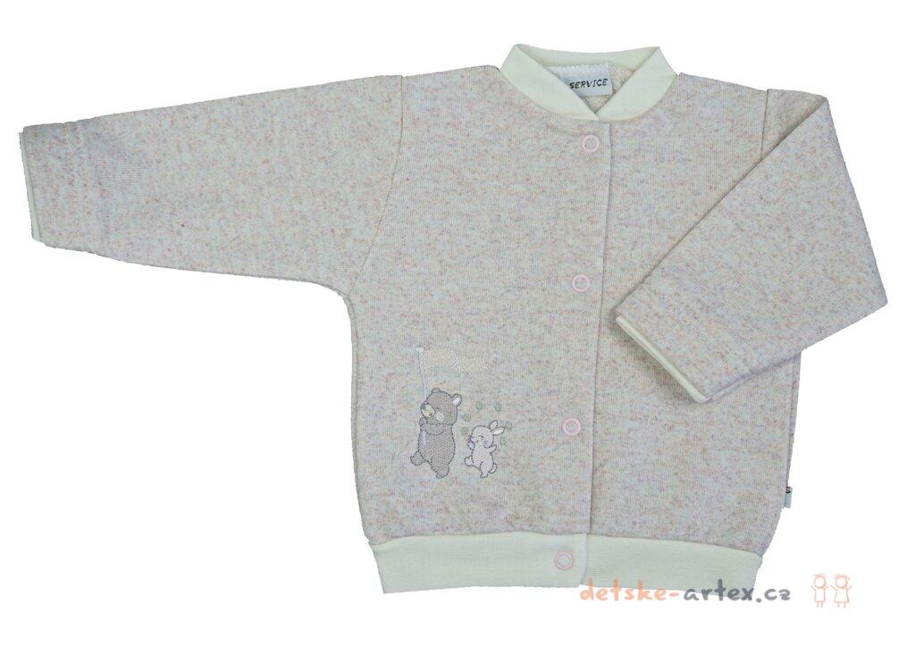 d3c2bb9cafe5 kojenecký kabátek - mikina růžová - detske-artex.cz