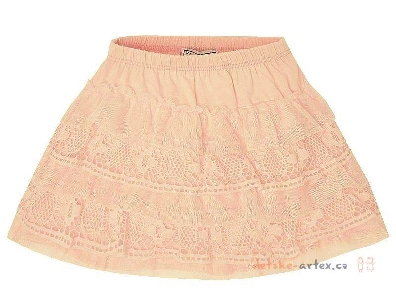 369169068df dívčí bavlněná sukně s tylem růžová - detske-artex.cz
