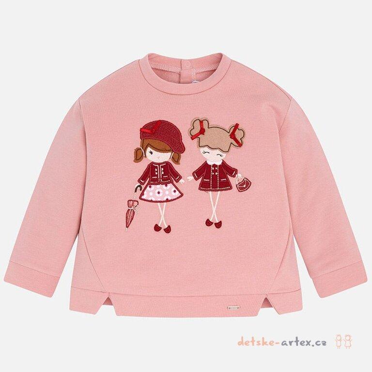 cd55ae42a8c1 kojenecká mikina pro holčičky růžová Mayoral 2429 - detske-artex.cz