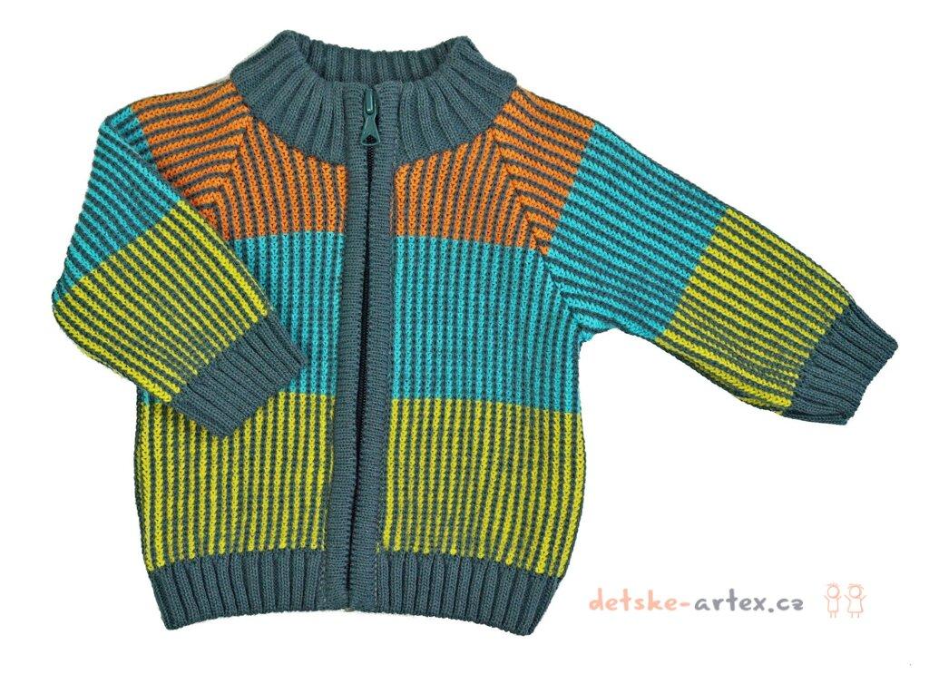 aa25ae761bc pletený kojenecký svetr velikost 56 až 80 - detske-artex.cz