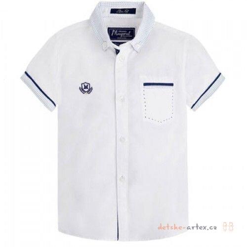 košile s krátkým rukávem Mayoral 3134 bílá velikost 98 - detske-artex.cz a8935b40bb