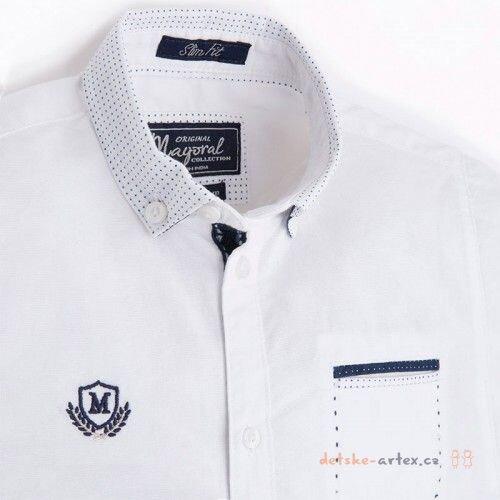 košile s krátkým rukávem Mayoral 3134 bílá velikost 98. dětská košile  krátký rukáv 98 a887501141