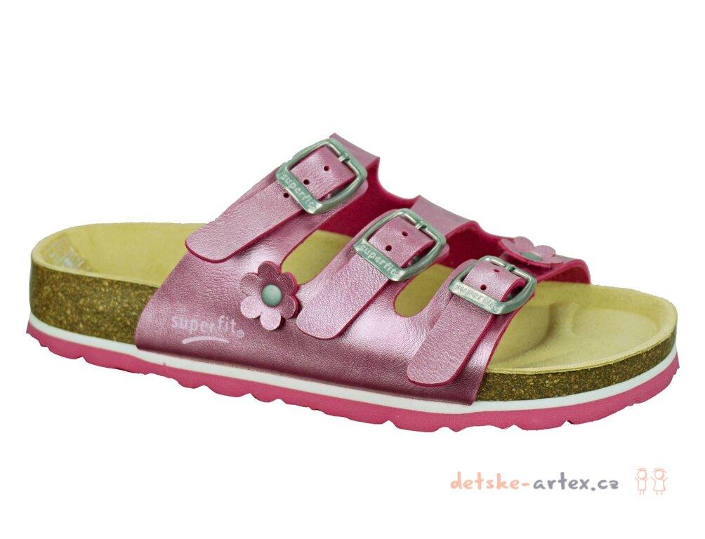24865420c31 dívčí zdravotní pantofle Superfit velikost 33 - detske-artex.cz