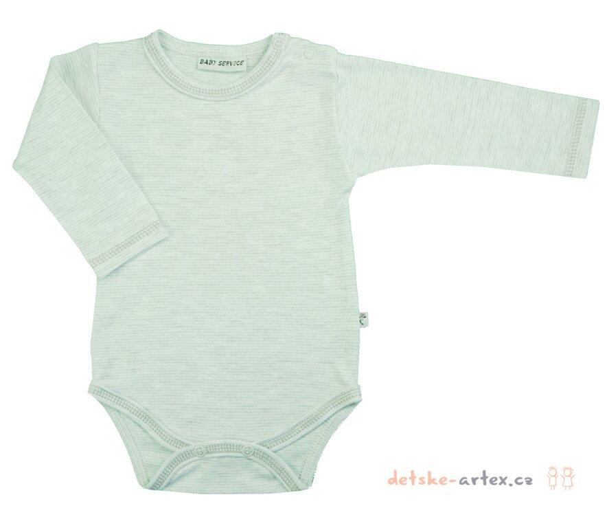 b004227822ca kojenecké body s dlouhým rukávem jednobarevné šedé - detske-artex.cz