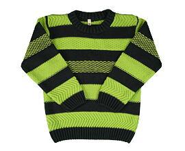 chlapecký svetr šedý se zelenými pruhy velikost 92 až 128 2fdf288fa4