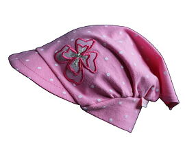 bavlněný šátek s kšiltem dívčí pro obvod hlavy 42 až 52 cm 74681f9c1e